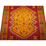 Mid-Century Vintage handmade Moroccan , 7.11 x 4.3