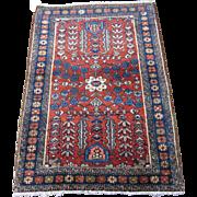 Persian handmade Enjelas Oriental Rug ,Hamedan Region,circa 1920 , 3.9 x 2.8