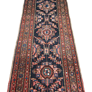 Antique Heriz Runner , Oriental Rug , Azerbaijan Province , Northwest Persia , Early 20th ...