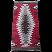 SALE Vintage Navajo Native American Indian Rug , 3.3 x 1.7