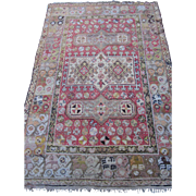 REDUCED Antique Turkish Oriental Rug , probably Oushak , Western Anatolia circa 1900 , 6x4