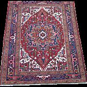 SALE Persian handmade Heriz Oriental Rug,Azerbaijan Province,Northwest Persia circa 1930 , 4.3