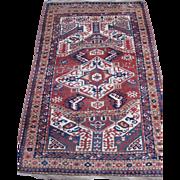 Antique Kazak Oriental Rug , S.W.  Caucusas , Last Quarter Of 19th Century , 7.2 x 4.5