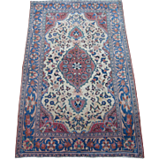 Antique Kashan Oriental Rug , Central Persia , Early 20th Century , 4.9 x 3.1