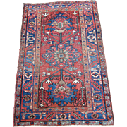 Antique Heriz Oriental Rug , Azerbaijan Province , Northwest Persia , Early 20th Century , 4.3