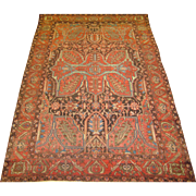 Mishan Malayer Oriental Rug , Northwest Persia ,Late 19th Century , 6.4 x 4.5