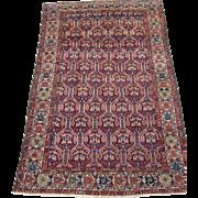 Antique Persian Malayer Oriental Rug circa 1910 , 6.3 x 4