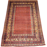 SOLD Antique Persian Malayer circa 1910 , 6.4 x 4.4