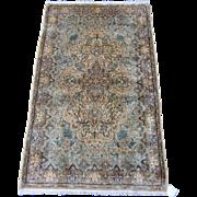 Persian handmade Kerman Oriental Rug , South East Persia circa 1930 , 4.11 x 2.11
