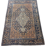 Antique Bibikabad Oriental Rug , Greater Hamadan Weaving region , Western Persia circa 1900 ,