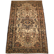 REDUCED Antique Persian Sarouk Ferahan Oriental Rug circa 1910 , 6.6 x 4.1