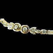 Art Deco Platinum 18kt Bicolor Gold Diamond Bracelet