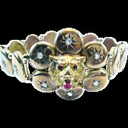 Antique Lions Head Gold Bracelet