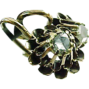 Austro-Hungarian Rose Diamond 14k Yellow Gold Earrings