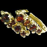 Garnet 18k Gold Earrings