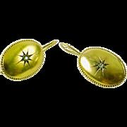 Vintage Diamond 14k Karat Gold Earrings