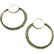 Georgian 18th Century Diamond Strass Paste Earrings