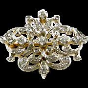 Edwardian Platinum Topped Gold Diamond Pendant/Brooch—1.45 Carats