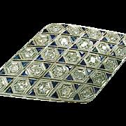 Art Deco Platinum 1.50 ctw Diamond Brooch Pin