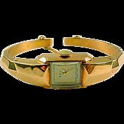 Vintage Rose Gold Bracelet Watch—14k