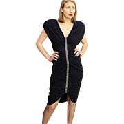 ****VINTAGE SALE!!!***** 1980s CASADEI Avant Garde body con LBD Black Dress 80s