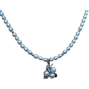 SALE 18 Karat Yellow Gold 1940's-1950' Fine Pearl and Gold Necklace with a ...