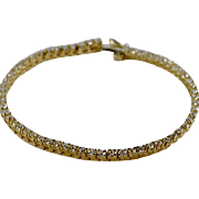 SOLD Estate Vintage Fine 14 Karat Yellow Gold Diamond Tennis Bracelet 3.05 Carats! Get it quic