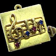 """SALE HUGE & Rare Vintage Swiss Made Colibri Musical 14 Karat Gold Charm. Plays """"Let me .."""