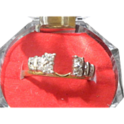 SALE 1980'S True Romance Designer Paul Winston .64 Carat Diamond Ring Wrap. VS2 H ...