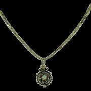 Antique Black Enamel and Opal 14 Karat Gold Mourning Pendant with 14 Karat Yellow Gold ...