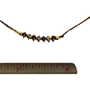 SALE Art Nouveau 14 Karat Yellow Gold Ruby Diamond Necklace