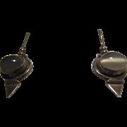 SALE Vintage Rainbow Moonstone, Sterling Silver Dangle Earrings