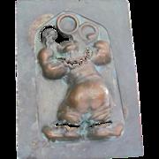 SALE Vintage  Copper Juggling Clown Form. Wonderful Condition