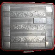 SALE Rare Art Deco Ernst Gideon Bek, of Pforzheim, Germany Sterling Silver Cigarette Case