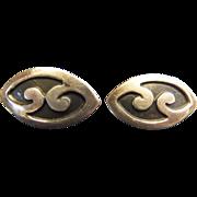 SALE 1940's F. Gutierrez Mexican Silver Earrings