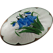 Stunning Norway sterling silver and enamel pin/brooch. Designed by Ivar Holth,