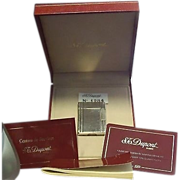 SALE St. Dupont Paris Line 1 Lighter In Original Box with all Papers #1284