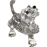 SALE Crystal Lion from Swarovski with Box and Certificate Disney