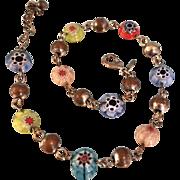SALE Glass and Brass Beads Avon bracelet