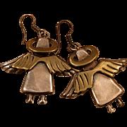 SALE Mexican Angels earrings eighties 80's