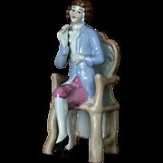 SALE Germany Porcelain Pastel toned Statue Figurine circa. 1930 thirties