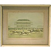 SALE Antique Horse Racing Engraving-1
