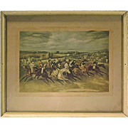 SALE Antique Polo Match Engraving