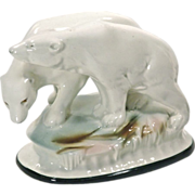 SALE Vintage Ceramic Polar Bear Figurine
