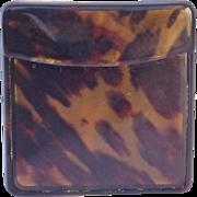 SALE Antique English Tortoise Shell Card Box-1