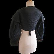 SOLD c1830s-50s black silk bodice ~19th century Victorian