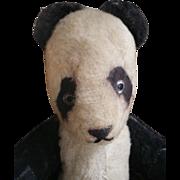 SOLD Vintage panda teddy bear