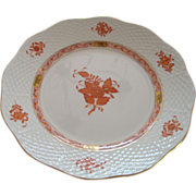 """Herend Chinese Bouquet - Rust  8"""" Plate -  #516"""