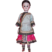 REDUCED A bisque Simon & Halbig oriental doll