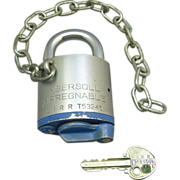 SOLD Vintage Long Island Railroad Padlock Ingersoll Impregnable with Key